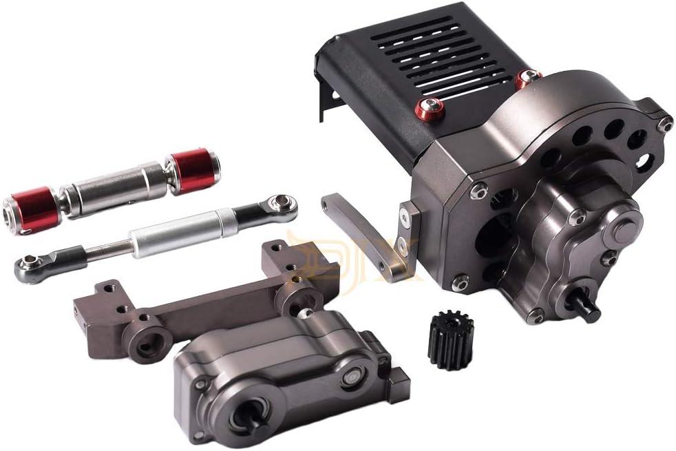 DJX フロントモーター リフィット スイートトランスミッションボックス ギア付き 1/10 RC クローラー Axial SCX10用