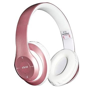 longdafei Auriculares Bluetooth Inalambricos de Diadema Cascos Plegables con Micrófono Micrófono/FM / TF Tarjeta/AUX para PC TV Teléfonos Inteligentes y ...