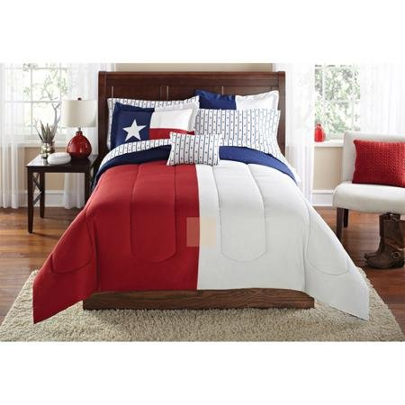 Mainstays Texas Star Bed in a Bag Coordinated Bedding Set, Twin/twin Extra Long