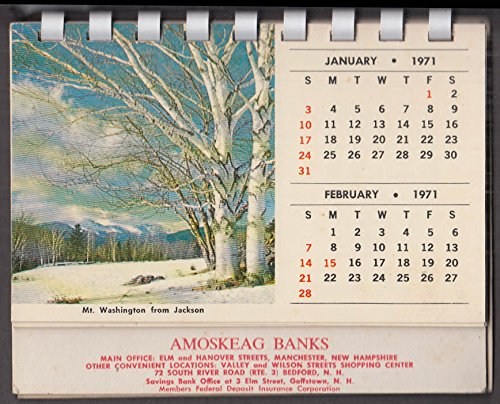 (Amoskeag Banks desktop calendar 1971)