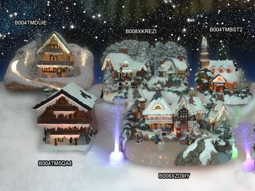 Christmas Snow Village Fiber Optic Church Chapel Winter Collectible by Banberry Designs (Image #3)