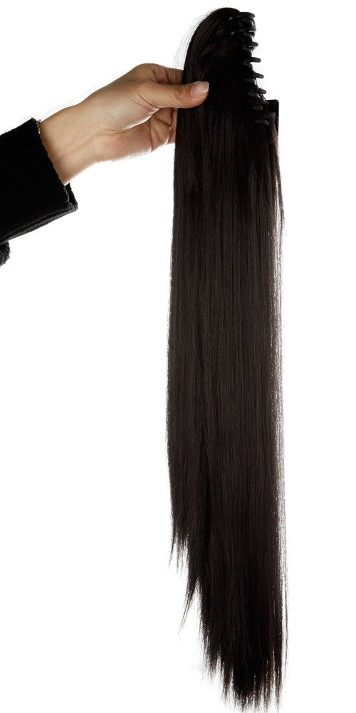 Hot Sale S Noilite 21 Inches Straight Dark Brown Claw Clip On
