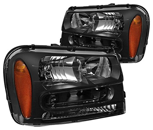 DNA MOTORING HL-OH-TRA02-BK-AM Headlight Assembly, Driver and Passenger ()
