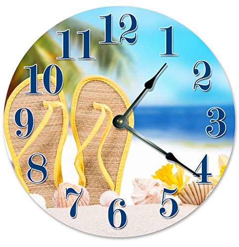 SANDALS IN THE SAND Unique Clock Large 10.5