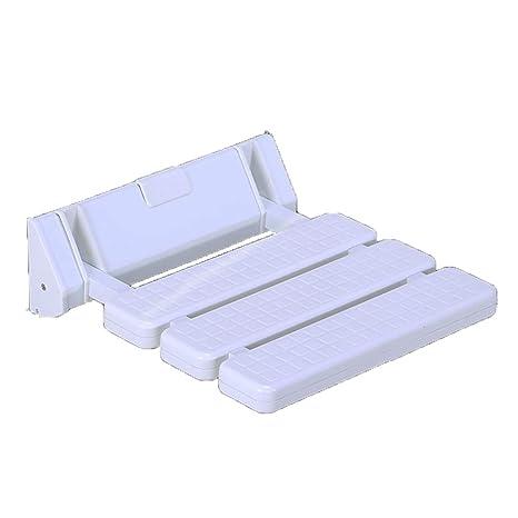 Amazon.com: Silla de pared plegable, taburete de baño ...