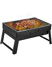 Barbecue Grill (Uten) Portable Lightweight Simple Charcoal Grill Perfect Foldable Premium BBQ Grill for Indoor Outdoor Campers Barbecue Lovers Travel Park Beach Wild etc