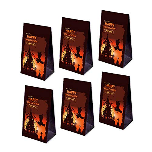 7-gost 24PCS Halloween Party Holiday Goodie Bags Paper Gift Bags Treat Bag Supplies -