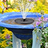 Solar Power Fountain with LED Lights, Upgraded 3W