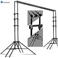 LimoStudio Sexopod 10 x 8.5 ft Photography Reinforced Backdrop Support System with Carry Case, 6 Legs Support Stands, Max 10ft. Cross Bar, Stable Photo Studio Background Sixpod Support System, AGG2670