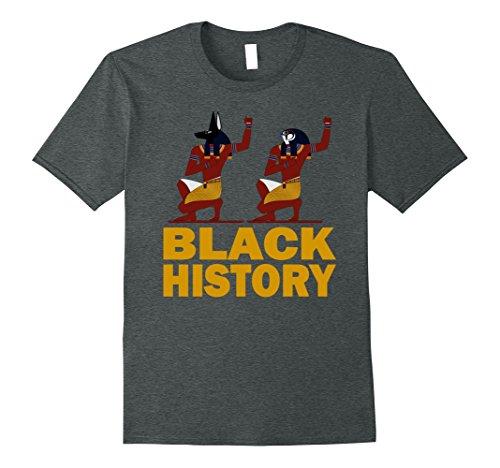 Mens Black Fist Up Pride And Power T Shirt African American Kemet Large Dark Heather