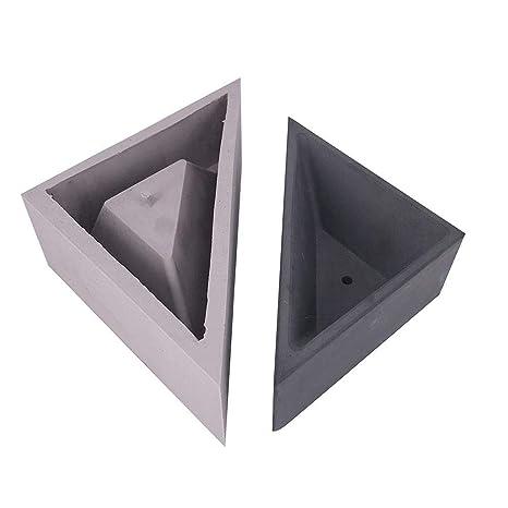 Lembeauty - Molde de Silicona con Forma de triángulo para macetas, diseño geométrico, Small