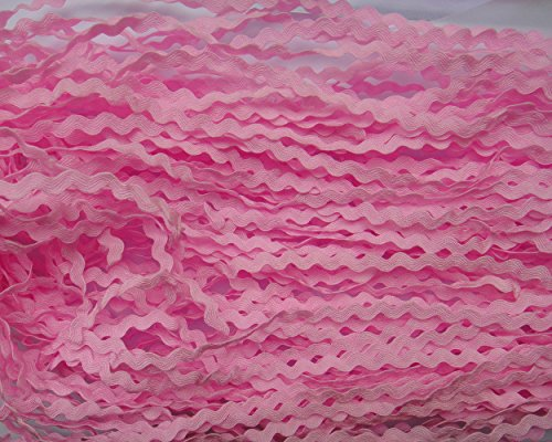 - Lyracces Wholesale Lots 40yards Mini 5mm 24color Pick Woven Rick Rack Ribbon Ric Rac Trims Scrapbooking Dressmaking (Pink #20)