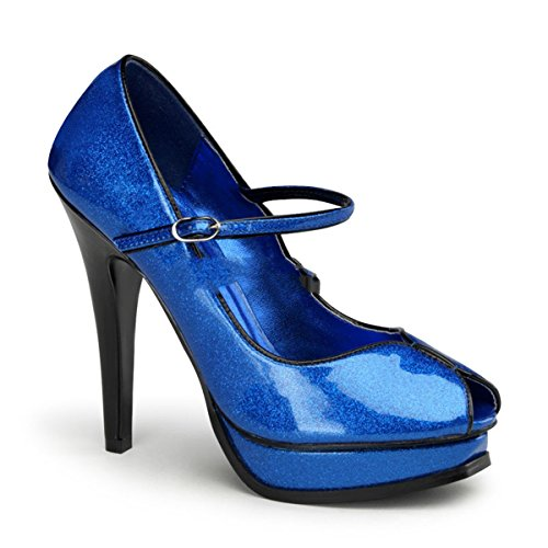 Pinup Couture Pleasure-02G - Sexy High Heels Retro Glitter Plateau Pumps 35-42