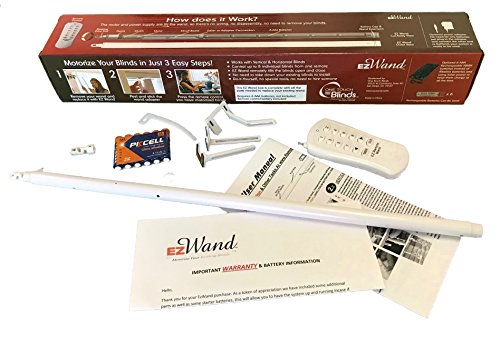 EzWand Blinds Single Package - Automate Motorize your Horizontal and Vertical blinds simply by replacing the Wand, Control up to 24 blinds, blind wand replacement, EZ Wand, Easy Wand (Control 1 Blind) by One_Touch_Blinds