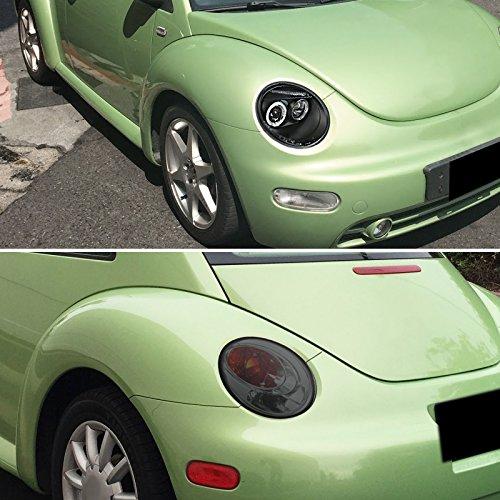 VW Beetle Black Halo LED Projector Headlights+Smoke Rear Tail Brake Lights
