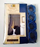 """Better Home Double Swag Shower Curtain with Liner Size 70"""" X 72"""" Navy"""