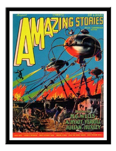 Iposters War Of The Worlds H.g.wells Print Magnetic Memo Board Black Framed - 41 X 31 Cms (approx 16 X 12 Inches)