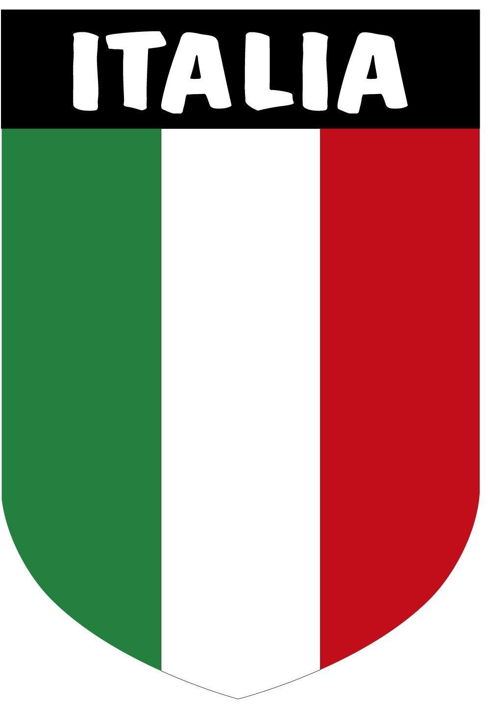 Artimagen Pegatina Escudo Italia con Texto 40x60 mm.