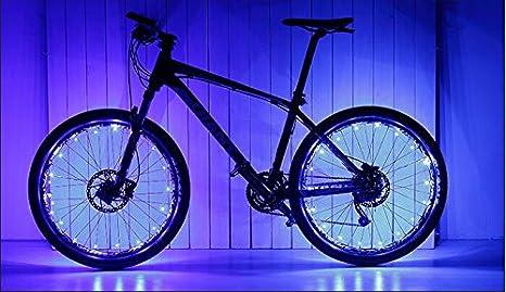 Pveath Guirnalda de luces para rueda de bicicleta, ultra brillante ...