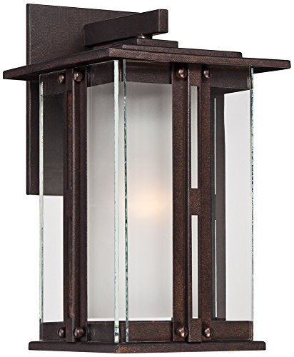 Fallbrook Collection 11 3/4'' High Bronze Outdoor Wall Light by Franklin Iron Works