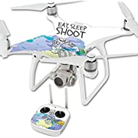 Skin For DJI Phantom 4 Quadcopter Drone – Eat Sleep Shoot | MightySkins Protective, Durable, and Unique Vinyl Decal wrap cover | Easy To Apply, Remove, and Change Styles | Made in the USA