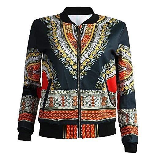 Fashion Hipster Cappotto Elegante Con Festa Style Di Stampato Outerwear Cerniera Lunga Donna Ragazze Casuali Autunno Manica Schwarz Giaccone Primaverile Moda Giacche gxEpqzwA