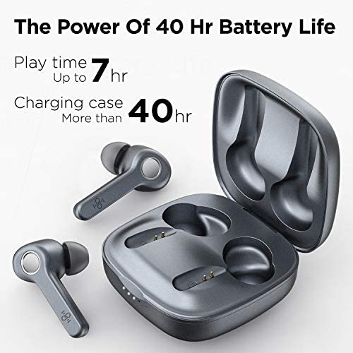 Wireless Earbuds | Boltune Bluetooth 5.0 Earbuds | 40 Hr Playing Time | USB-C Quick Charge | IPX8 Waterproof |Stereo Sound Deep Bass Bluetooth Headphones | Built-in Mic - Grey 8
