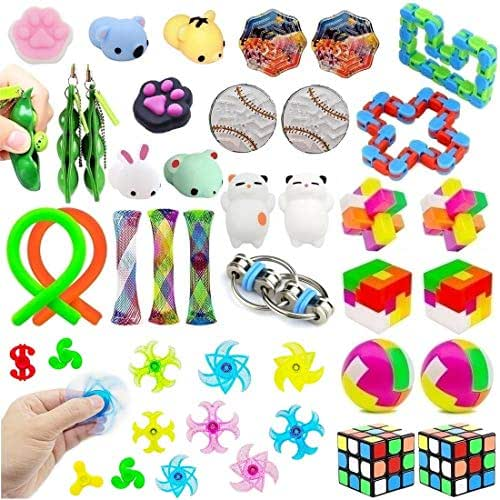 Fidget Toys 36 Pack Bundle Sensory Toys Set for Stress Relief and Anti-Anxiety for Kids and Adults, Sensory Fidget Hand Toys for ADD ADHD Autism