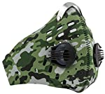 Axsyon Dust Mask- Anti-Pollution/Allergy Lifestyle & Sports FaceMask- 3 Filters & 2 Valves included. Superlightweight Neoprene Protective Nose & Mouth Cover- for Work, Sport, Outdoor use