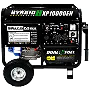 Go to Online Store DuroMax XP10000EH, 8000 Running Watts/10000 Starting Watts, Dual Fuel Powered Portable Generator