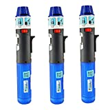 3 Pack Turbo Blue Torch Stick Multi Purpose Refillable Butane Lighter