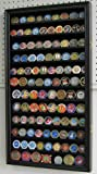 LARGE 108 Challenge Coin / Poker Chip Display Case Holder Rack Stand, Glass door-BLACK Finish (COIN2-BL) by DisplayGifts