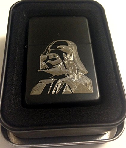 Darth Vader Star Wars Black Engraved Cigarette Metal Lighter Biker Gift LEN-0111