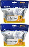 Aqueon (2 Pack) Minibow Replacement Filter Cartridge Size Small (6 Cartridges Per Pack/12 Total)