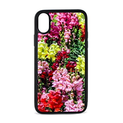 Snapdragon Red Vintage Flower Digital Print TPU Pc Pearl Plate Cover Phone Hard Case Cell Phone Accessories Compatible with Protective Apple Iphonex/xs Case 5.8 Inch