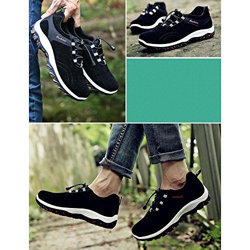 Scarpe Con Nero Sneaker Sneakers Da Elastico Boots Sport Grigio Corsa Trekking Light Outdoor Blu Walking Uomo Giallo Nero Sportive Runner TOTwr1q