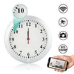 WiFi Hidden Spy Wall Clock Camera,Camakt 1080P HD Wireless Digital Hidden Nanny Cam with Motion Detection/Loop Recording Cover Security Camera