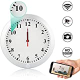 WiFi Hidden Spy Wall Clock Camera,Camakt 1080P HD Wireless Digital Hidden Nanny Cam with Motion Detection/Loop Recording Cover Security Camera