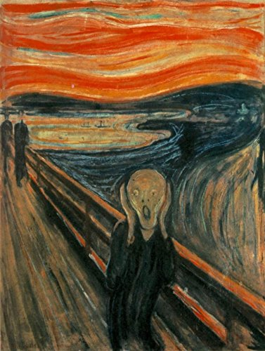 Edvard Munch - The Scream, Size 18x24 inch, Gallery Wrapped Canvas Art Print Wall décor