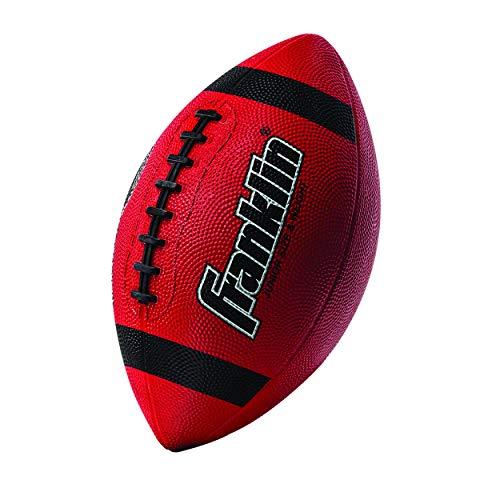 Franklin Sports Grip-Rite 100 Rubber Junior Football - Red