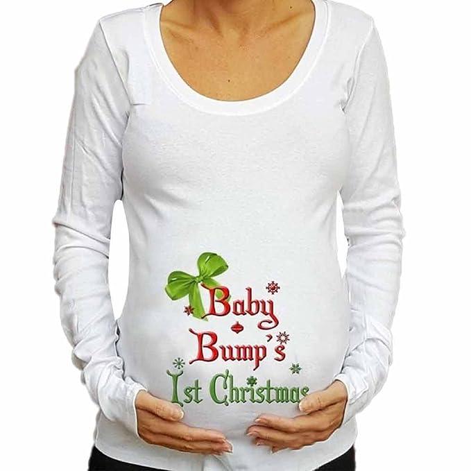 fa4079642 Ropa Embarazadas Invierno BBsmile Manga Larga Blusa de Navidad Bebé para  Camiseta de Maternidad Ropa Camisetas premamá  Amazon.es  Ropa y accesorios