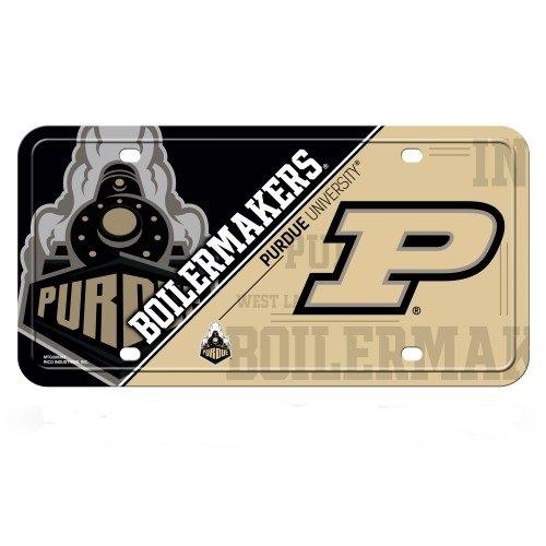 (Rico Industries NCAA Purdue Boilermakers Metal License Plate Tag, Multicolor, 6