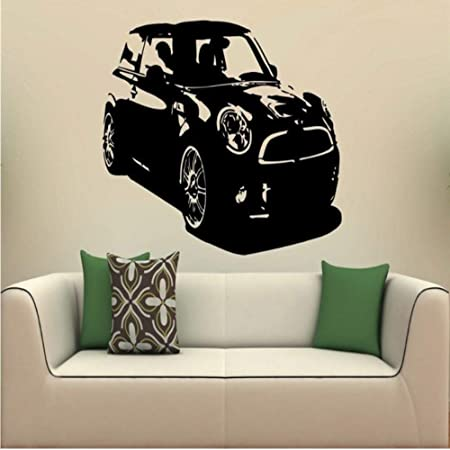 Mhdxmp Autocollant Mural Voiture Mini Cooper S. 1746 Art ...