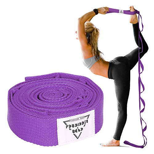 Forbidden Road StretcAForbidden Road Stretch Strap with Multi- Loop Exercise Strap for Physical Therapy Yoga Dance Pilates Greh Strap with Multi- Loop Exercise Strap (Purple, 1.578 inch (3.8200cm))
