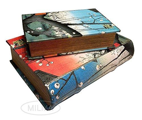 Hypnotizing Elegants - Hiroshige Blooming Plums Nesting Secret Jewelry Book Box Set