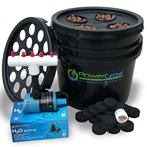 PowerGrow Systems Ultimate Bucket Cloner + Aeroponic Garden Combo Kit