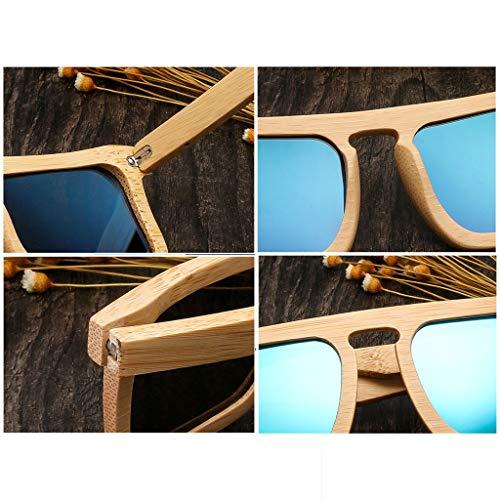 Lunettes Couleur Unisexe Lunettes Silver De De Lunettes Soleil Gray De en Soleil Bambou Bambou Bambou Bois Personnalité Cadre Mode Nouveau Lunettes Polarisées ETwtxqnH
