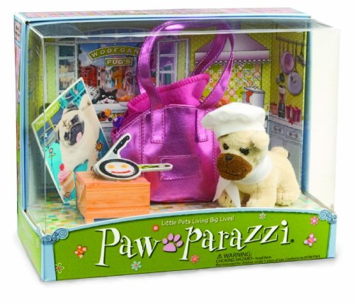 Pawparazzi Soft Toy Pet Dog Woofgang with Carrying Handbag by Noodle Head (Pawparazzi Purse)