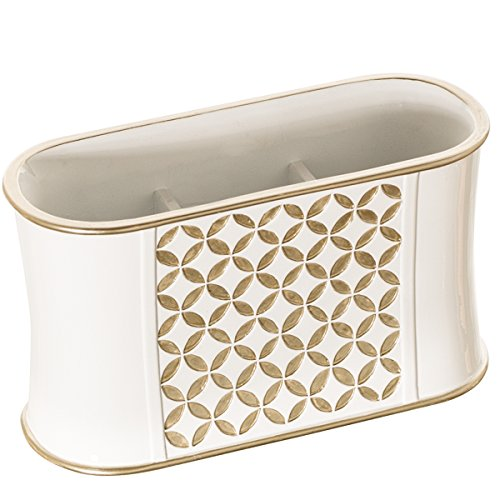 Diamond lattice makeup organizer sink cabinet vanity for Bathroom countertop accessories sets