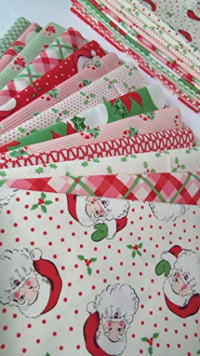 swell urban chiks christmas fabric moda fabrics cotton quilting 13 fat quarters 325 yards total - Vintage Christmas Fabric